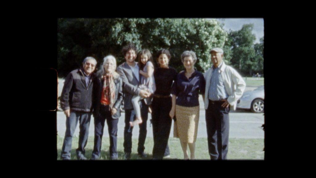 Con el Tango eine Urquiza Dokumentarfilm Scene der Duarte und Núñez Familie in Kopenhagen Aufnahme mit Super8
