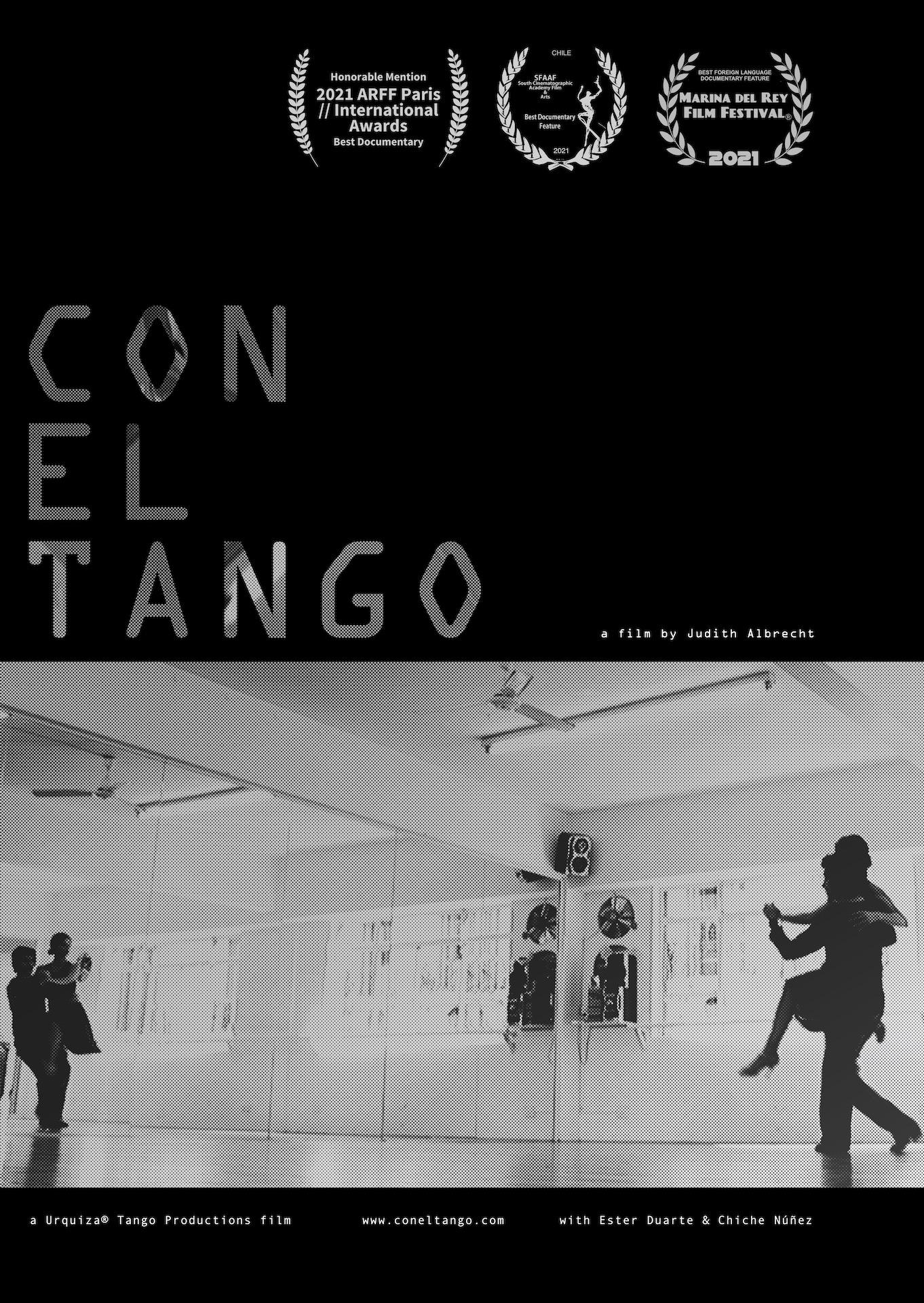 Con El Tango Poster mit Laurels - Dokumentar Film uber Urquiza Tango Argentino mit Chiche Nunez, Ester Duarte y Jose Brahemcha